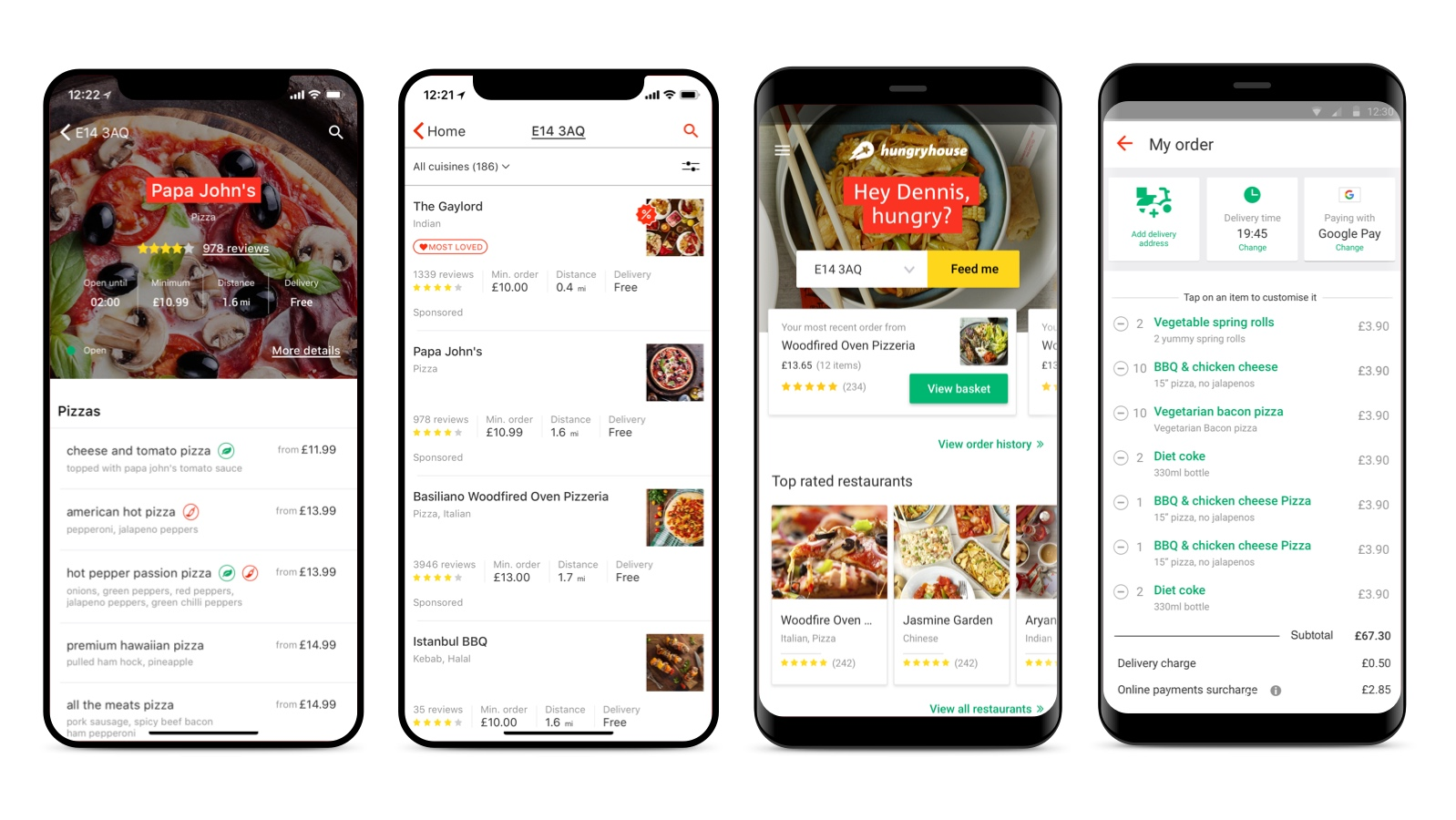 hungryhouse mobile Apps